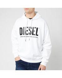DIESEL Division Logo Hoodie - White