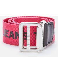 Tommy Hilfiger Tjw Webbing Belt 3.5 - Pink