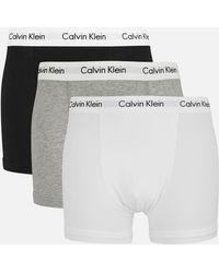 Calvin Klein 3 Pack Trunk Boxer Shorts - Black