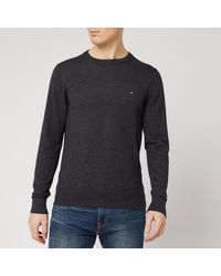 Tommy Hilfiger Luxury Touch Knitted Crew Neck Sweater - Gray