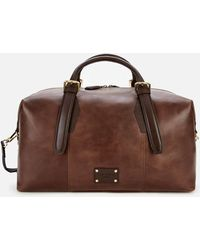Ted Baker Caiman Leather Holdall Bag - Brown