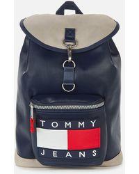 Tommy Hilfiger Heritage Flap Backpack - Blue