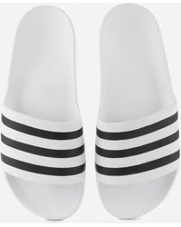 adidas Adilette Aqua Slide Sandals - White