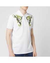 Versace Emboidered Polo Shirt - White
