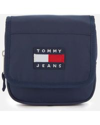 Tommy Hilfiger Heritage Flap Nylon Cross Body Bag - Blue