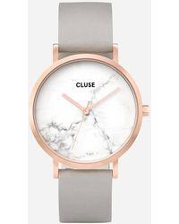 Cluse La Roche Marble Leather Watch - Multicolour