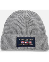 Tommy Hilfiger Outdoors Patch Beanie Hat - Grey