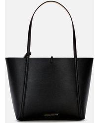 Armani Exchange Angie Reversible Tote Bag - Black