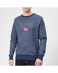 GANT - Shield C-neck Sweat - Lyst