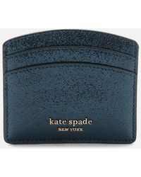 Kate Spade - Spencer Metallic Card Holder - Lyst