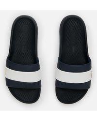 Lacoste Croco Slide 120 Slide Sandals - Blue