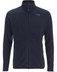 The North Face 100 Glacier Full Zip Sweater - Blue