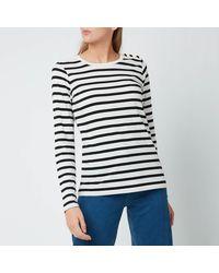 Kate Spade Striped Button Shoulder T-shirt - Multicolour