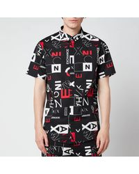 Armani Exchange All Over Print Short Sleeve Shirt - Black