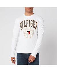 Tommy Hilfiger Hilfiger Varsity Long Sleeve T-shirt - White