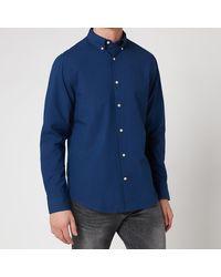 GANT Solid Indigo Shirt - Blue