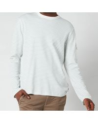 Ted Baker Melted Striped Long Sleeve Top - White