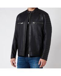 BOSS by Hugo Boss Boss Casual Jakoby Leather Jacket - Black