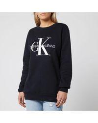 Calvin Klein Monogram Logo Sweatshirt - Black