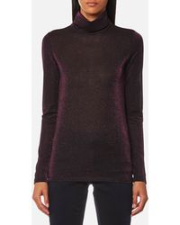 Maison Scotch - Long Sleeve Fitted Turtle Neck Top - Lyst