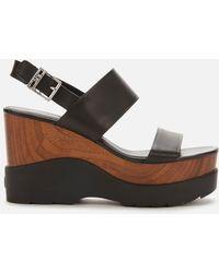MICHAEL Michael Kors Rhett Wedge Sandals - Black