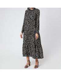 Whistles Daisy Spot Trapeze Dress - Black