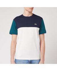 Lacoste Colour Block T-shirt - Blue