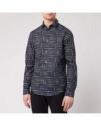 Emporio Armani All Over Print Shirt - Black