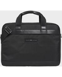 Tommy Hilfiger Uptown Nylon Computer Bag - Black