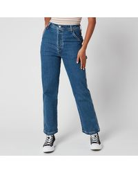 Levi's Ribcage Straight Ankle Utility Jeans - Blue
