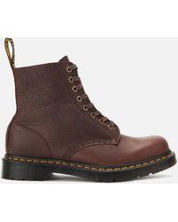 Dr. Martens 1460 Ambassador Soft Leather Pascal 8-eye Boots - Brown