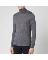 Ted Baker Newtrik Fitted Roll Neck Sweatshirt - Gray