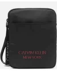 Calvin Klein Flat Pack Ny Shoulder Bag - Black