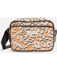 Ted Baker Niqita Leopard Detail Puffer Nylon Camera Bag - Orange