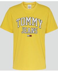 Tommy Hilfiger Tjw Collegiate Logo T-shirt - Yellow