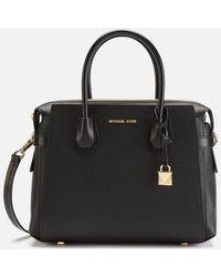 Michael Kors Mercer Small Leather Handbag - Black