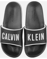 Calvin Klein Slide Sandals - Black
