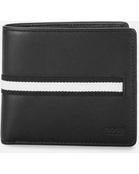 BOSS Wallet And Key Ring Gift Set - Black