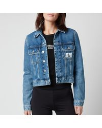 Calvin Klein 90s Crop Trucker Jacket - Blue