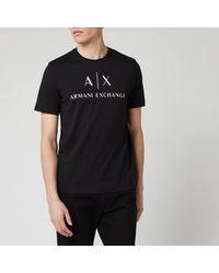 Armani Exchange Script Logo T-shirt - Black