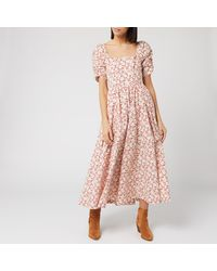 Free People She's A Dream Midi Dress - Red
