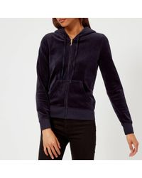 Juicy Couture Black Label Velour Fairfax Fitted Jacket - Blue