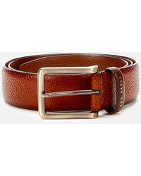 Ted Baker Cokonut Pebble Grain Leather Belt - Brown