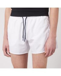 Emporio Armani Classic Swim Shorts - White