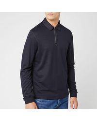 Ted Baker Mytype Long Sleeve Polo Sweater - Blue