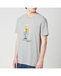 Polo Ralph Lauren Jersey Polo Bear T-shirt - Grey