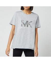 MICHAEL Michael Kors Sequin Logo T Shirt - Grey