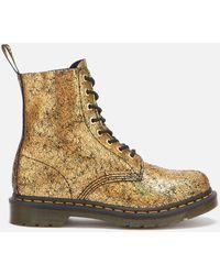 Dr. Martens 1460 Pascal Iridescent Crackle 8-eye Boots - Metallic