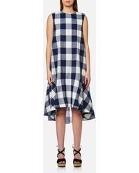 Paisie | Check Trapeze Dress | Lyst