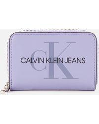 Calvin Klein Accordion Zip Around - Purple